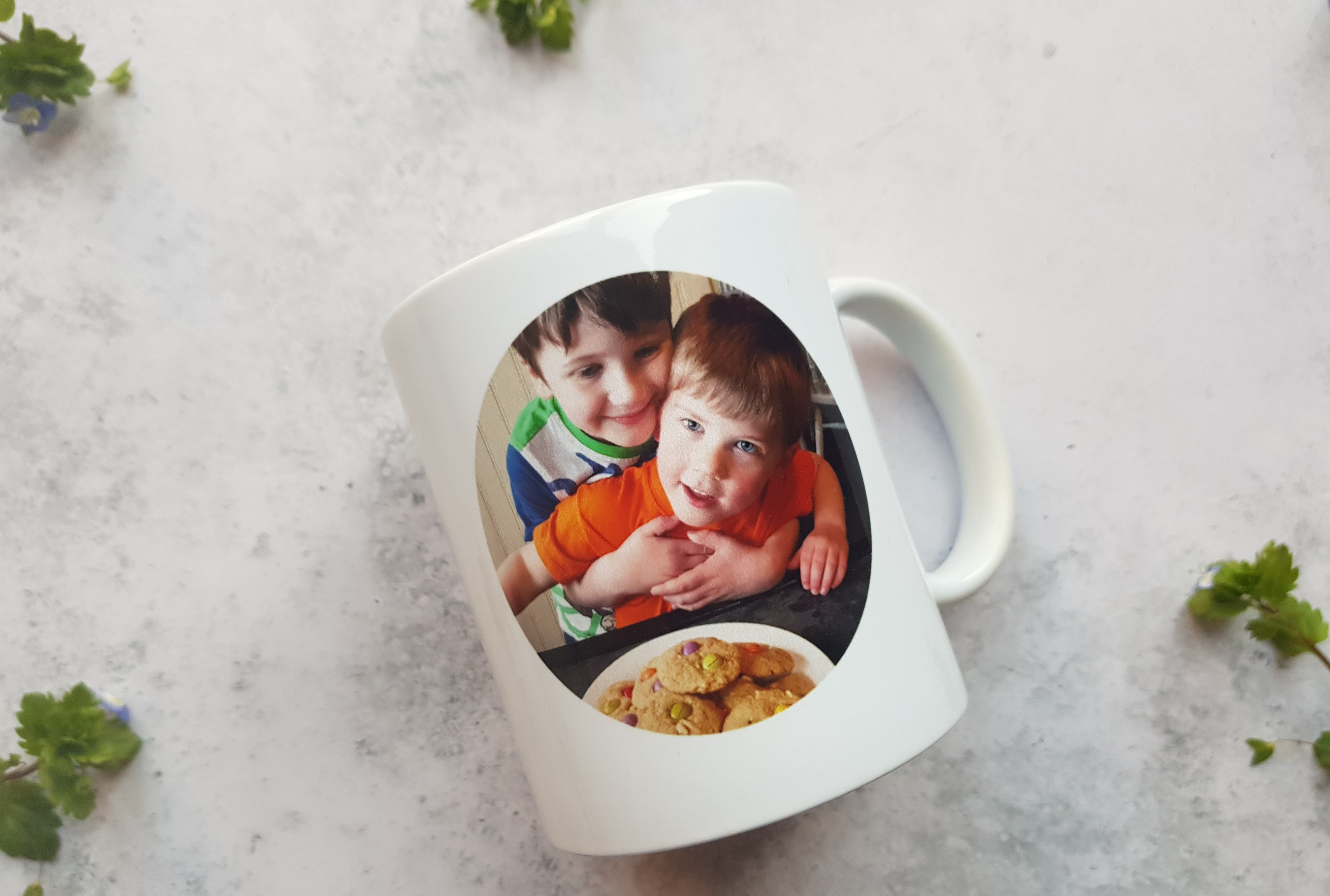 ASDA personalised mug back