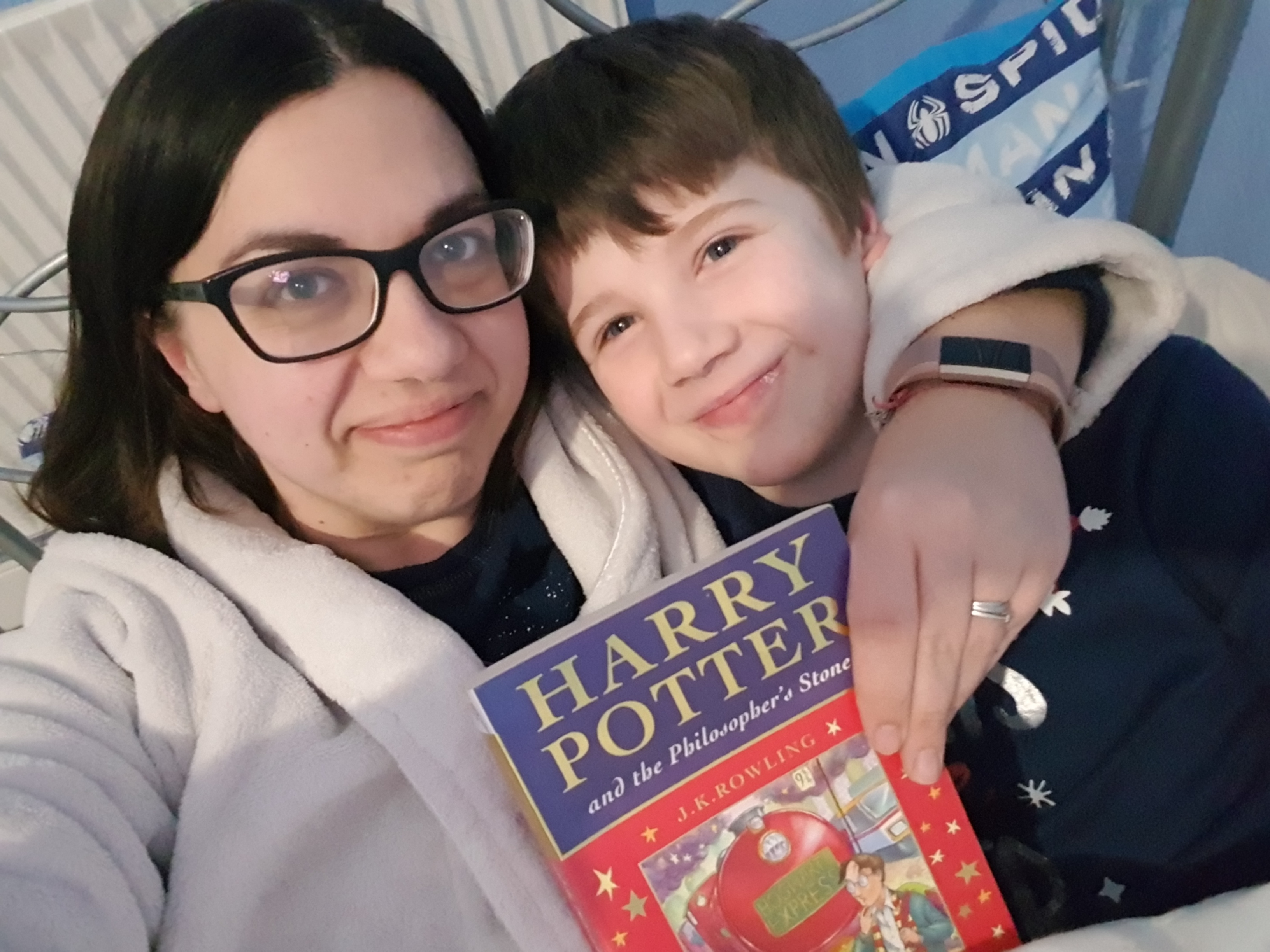 Mummy and Jacob with Harry Potter