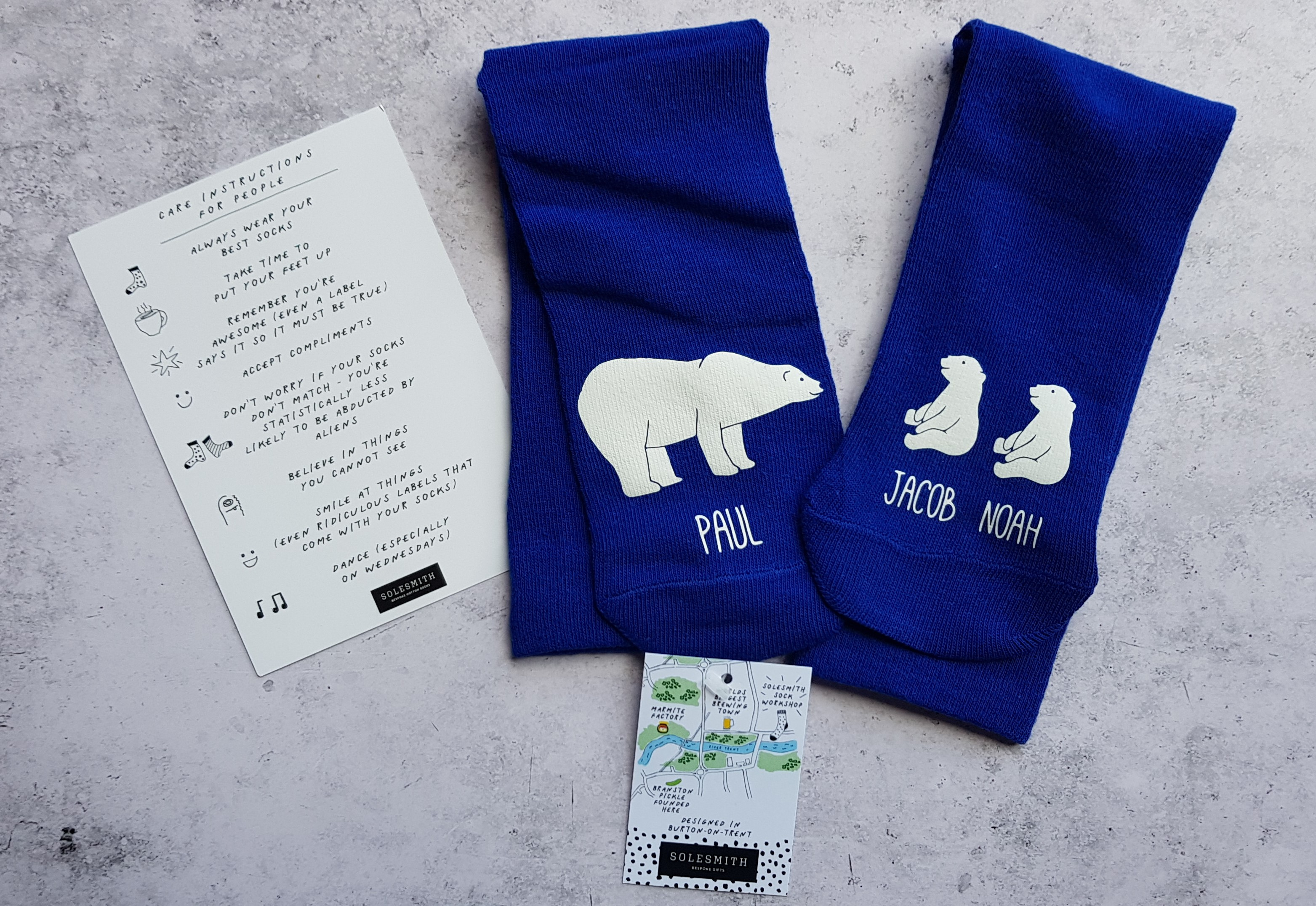 Getting Personal personalised polar bear & me socks