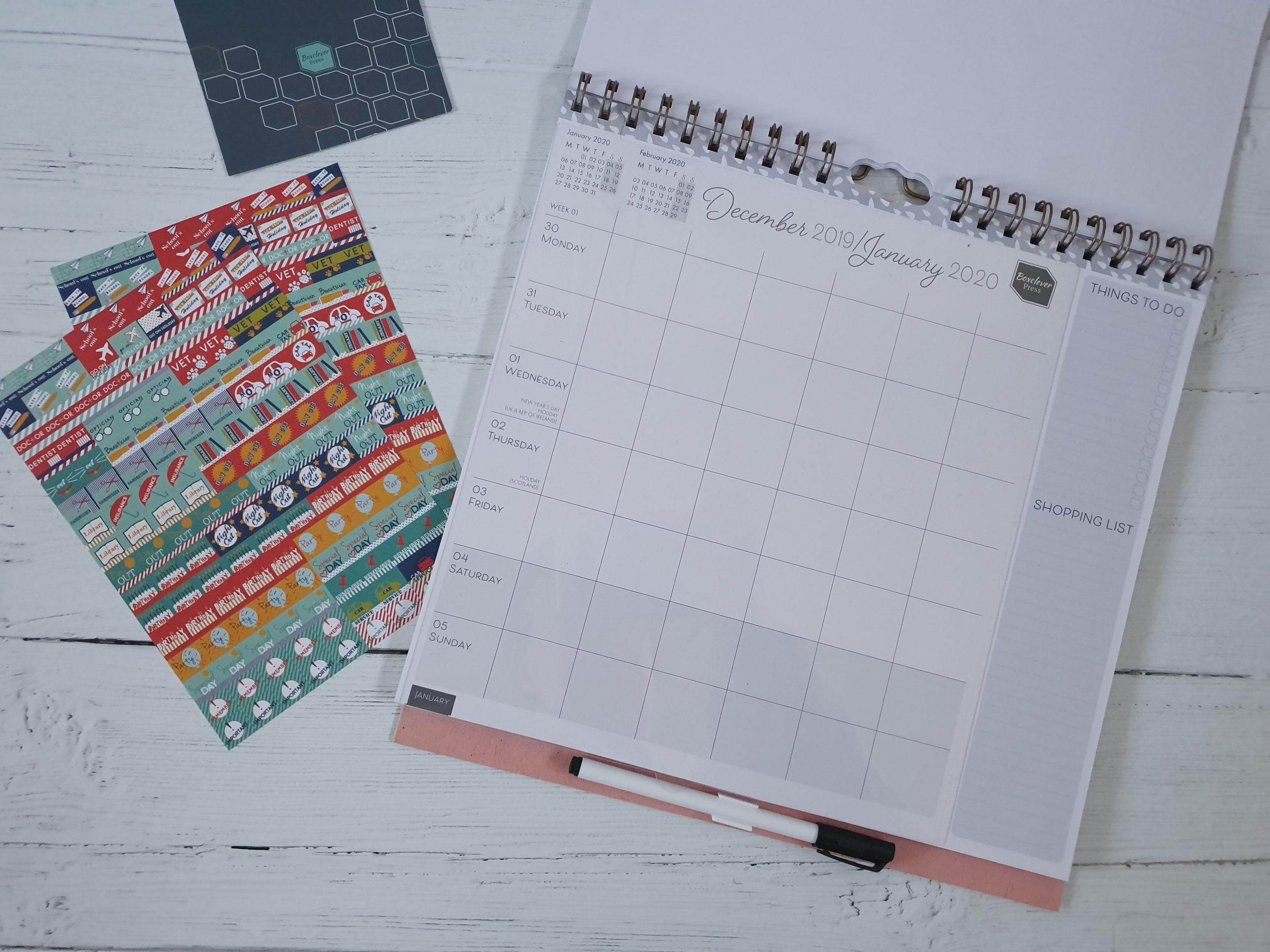 Boxclever Press Family Planner Calendar inside