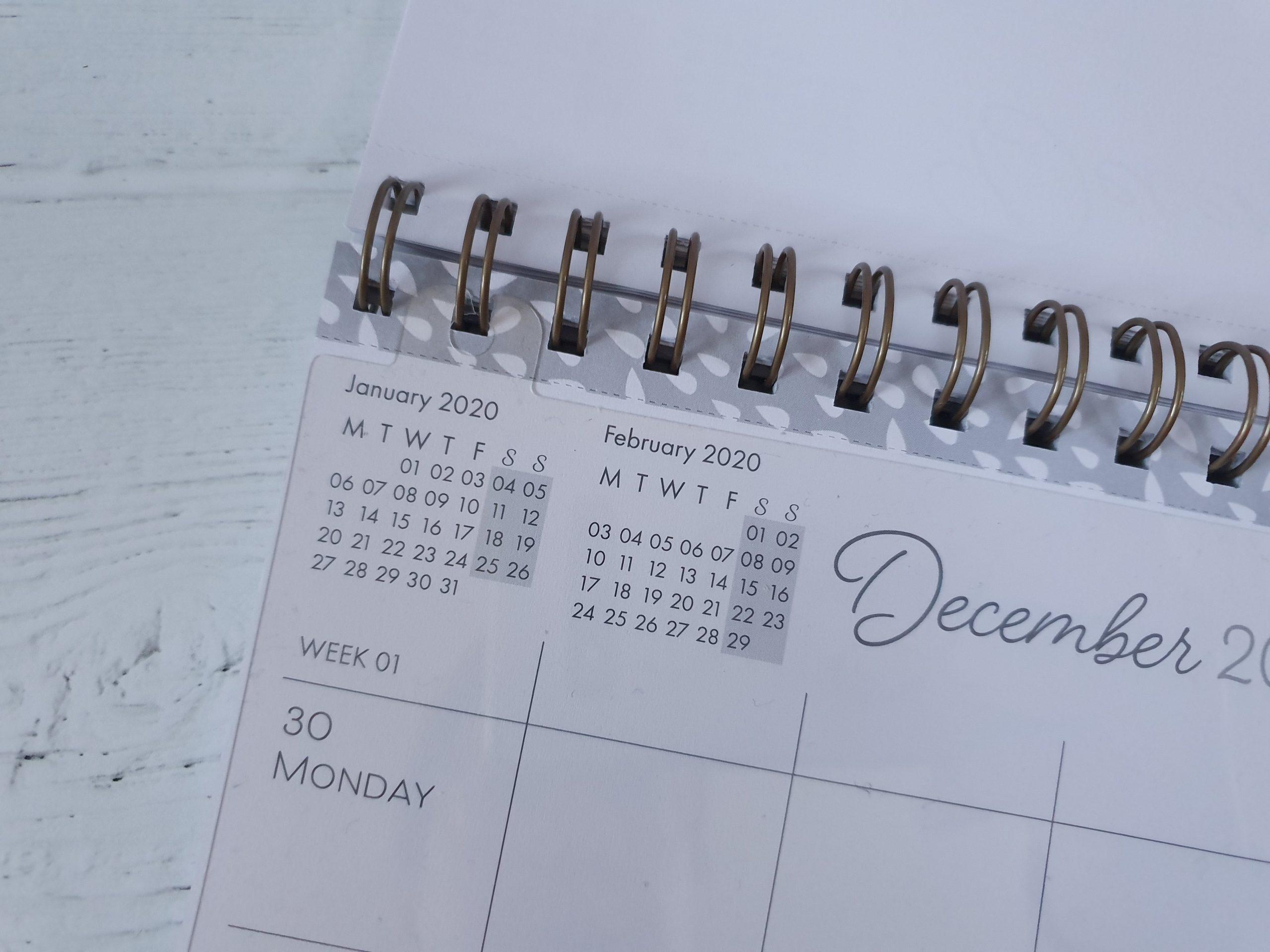 Boxclever Press Family Planner Calendar mini calendar close up
