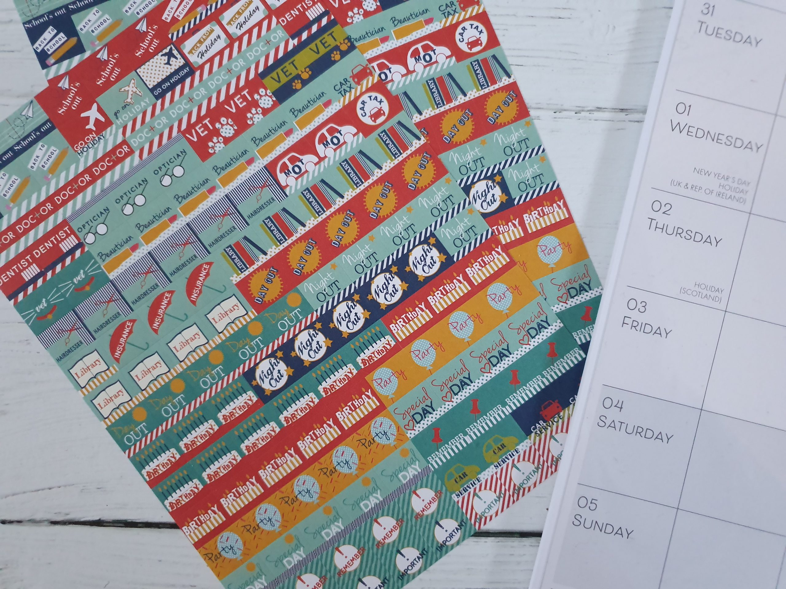 Boxclever Press Family Planner Calendar stickers