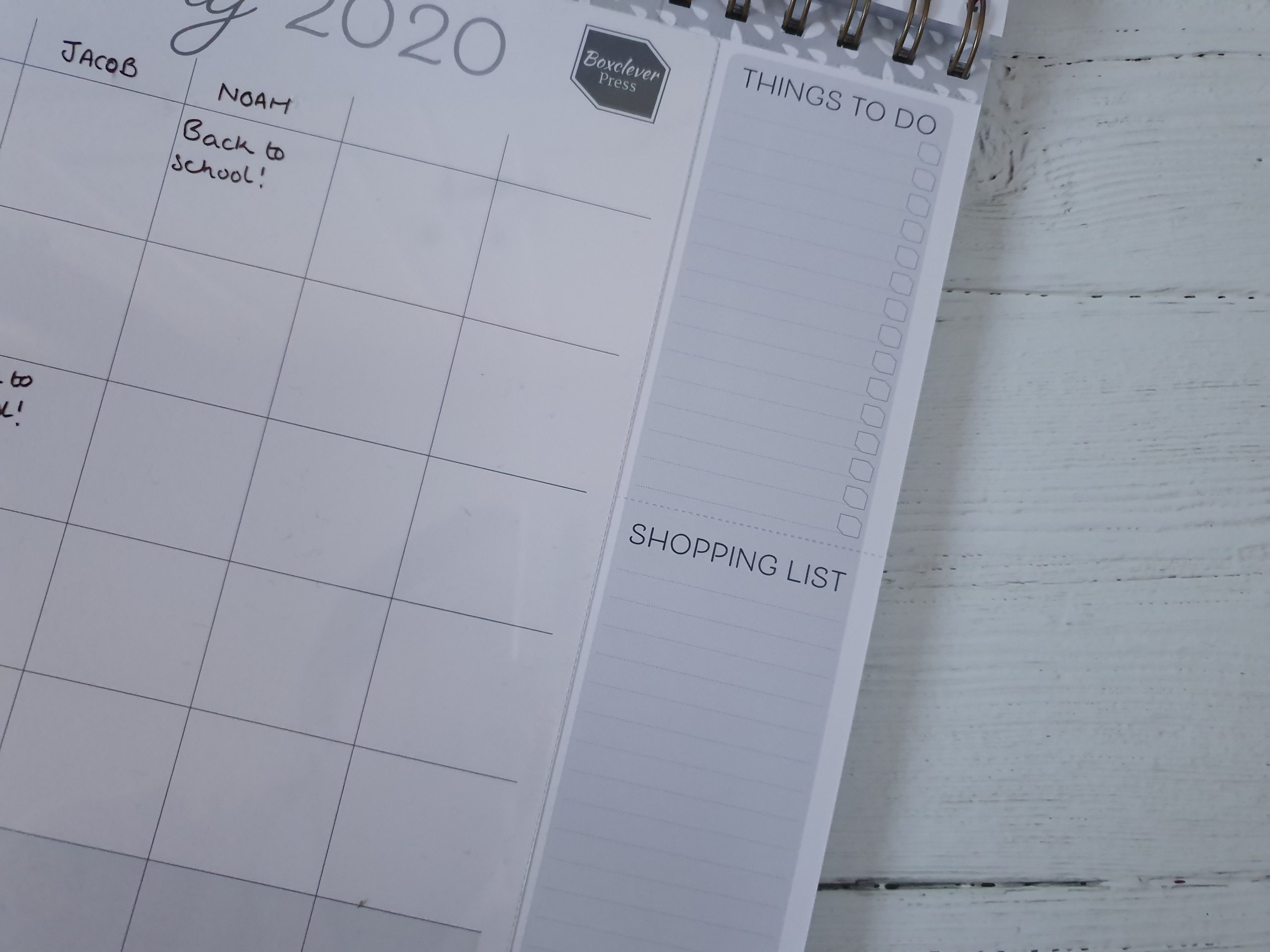 Boxclever Press Family Planner Calendar tear off lists