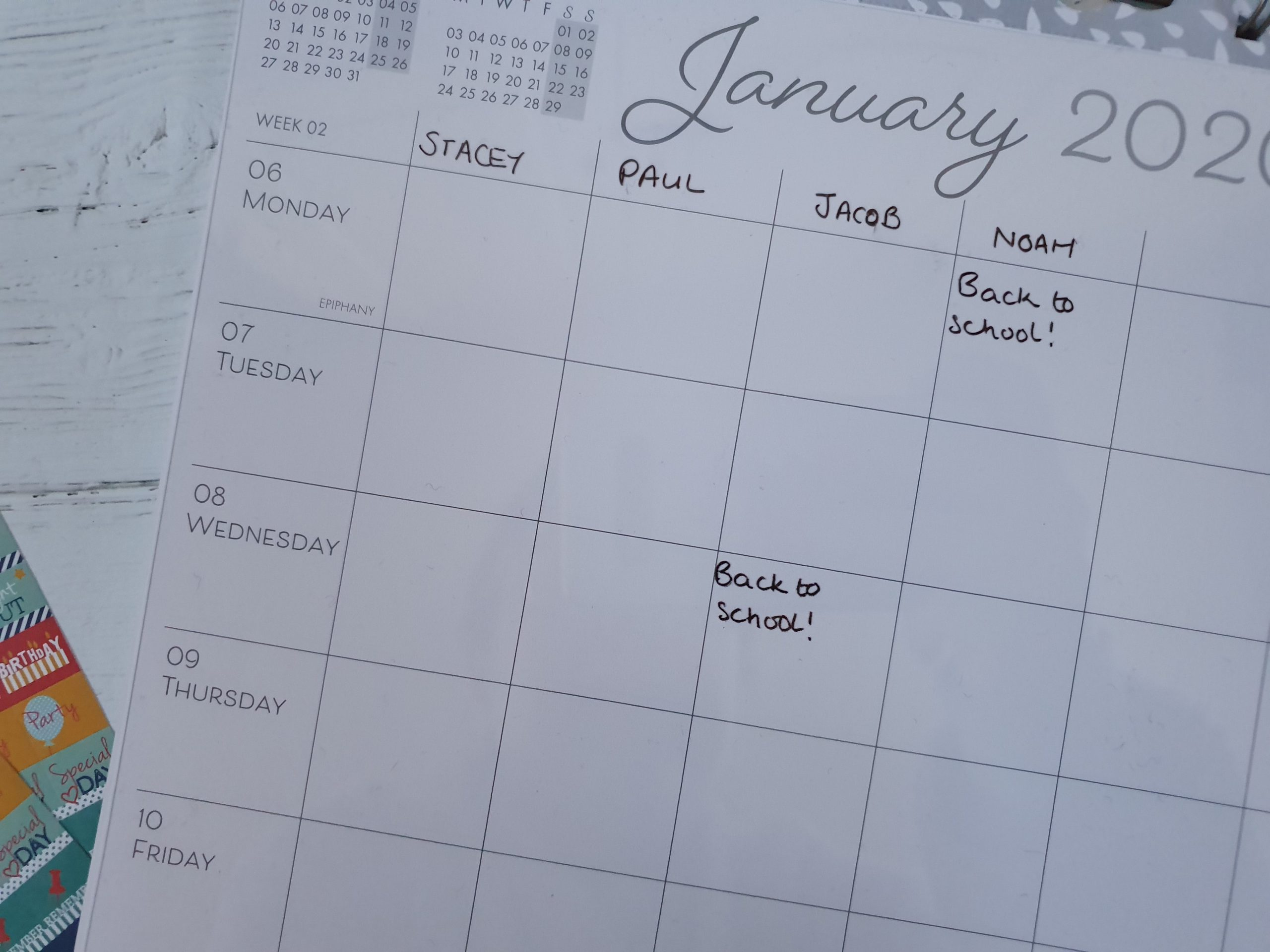 Boxclever Press Family Planner Calendar transparent overlay